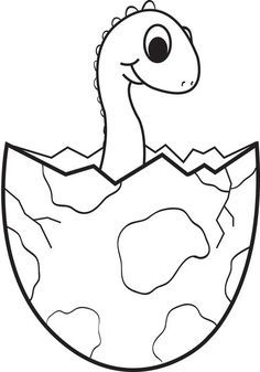 Cartoon Baby Dinosaur Coloring Page Dinosaur Coloring Pages