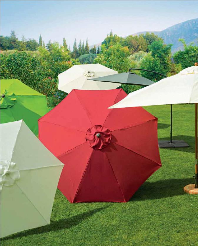 Sombrillas de colores outdoor design outdoor terraza for Alcampo sombrillas terraza