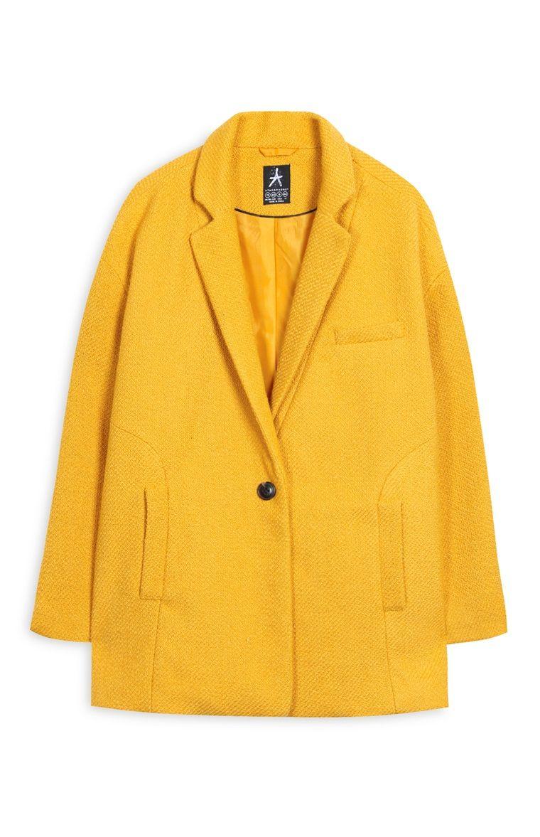 extremadamente único moda atractiva mayor selección de 2019 Primark - Abrigo corto texturizado color mostaza | Moda ...