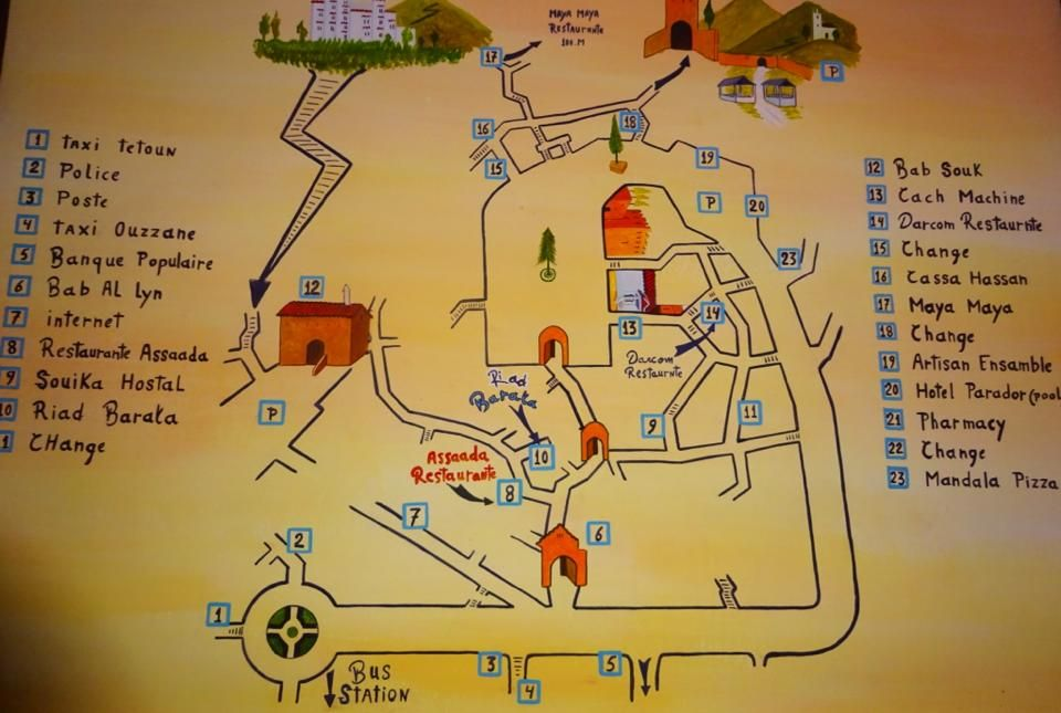 8500a2f57a Image result for chefchaouen map tourist   takhzine