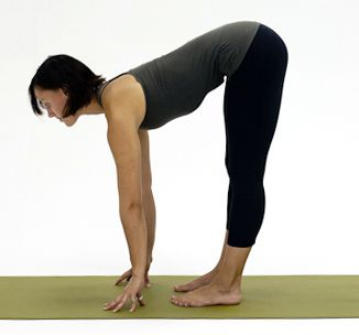 how to do half forward bend in yoga with images