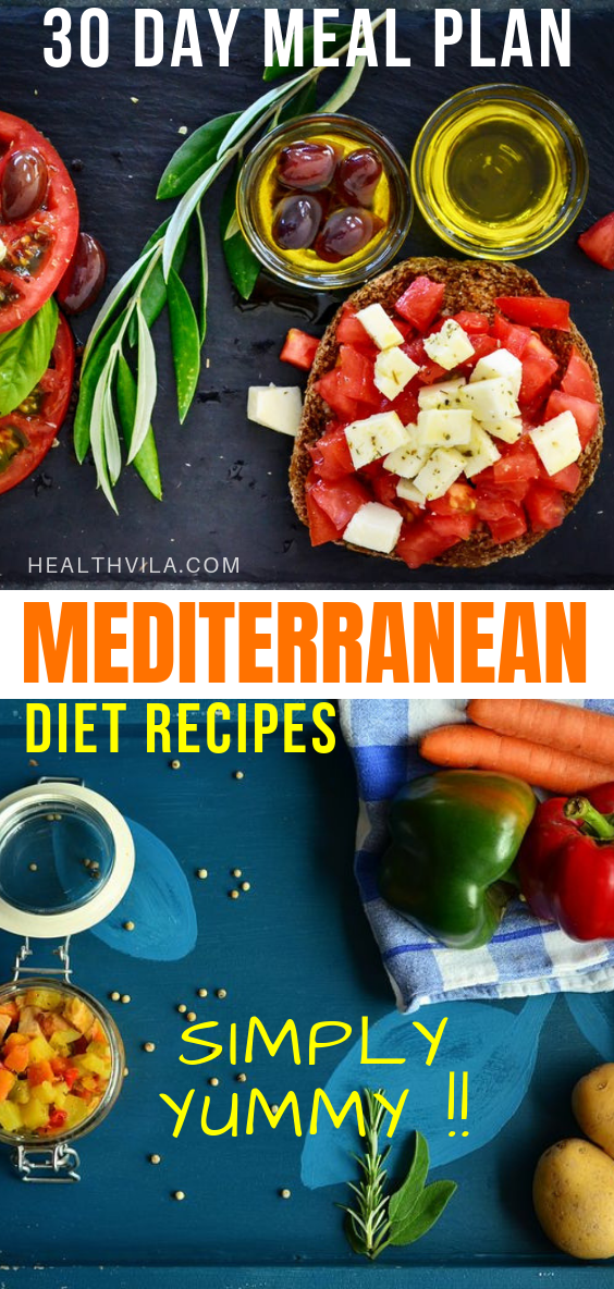 Mediterranean Diet 30 Day Meal Plan Menu