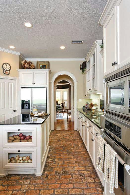 Maybe Indy brick in the front areas and kitchen? | Pagosa Kitchen ...