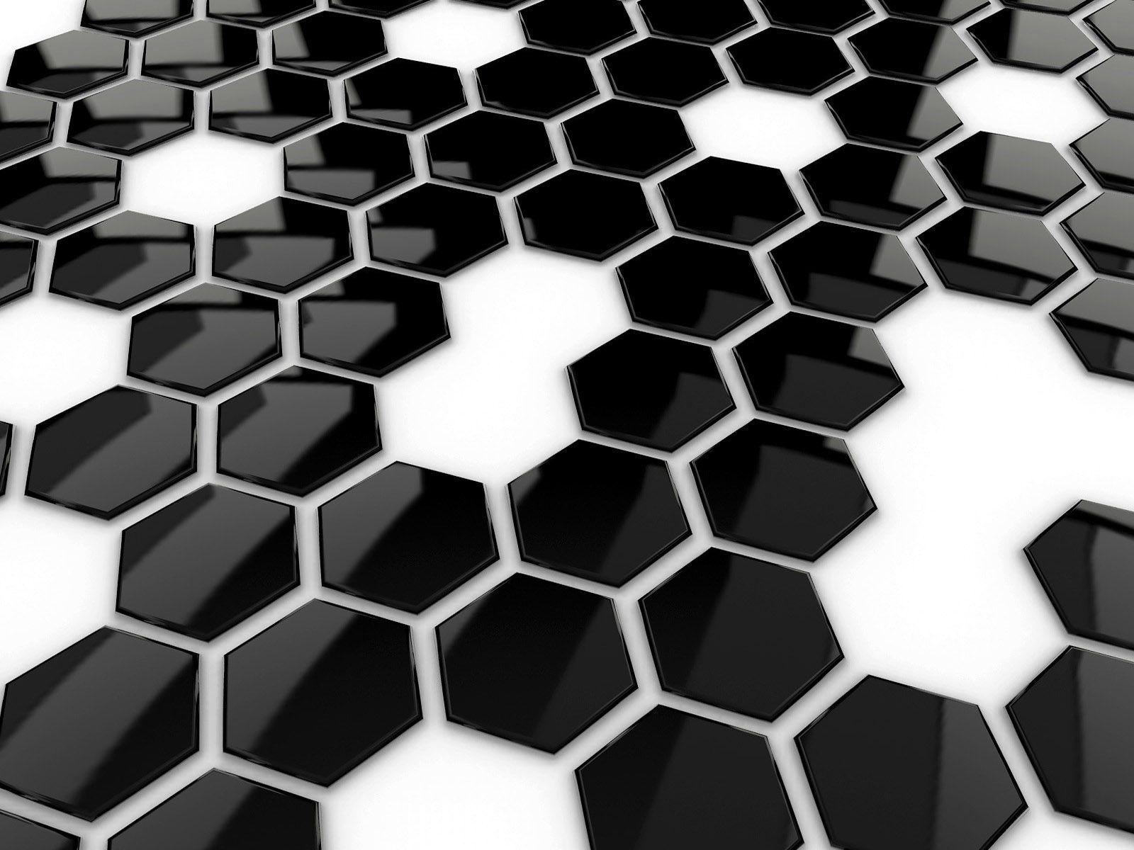Mattonelle esagonali bianco e nero architecture graphic design