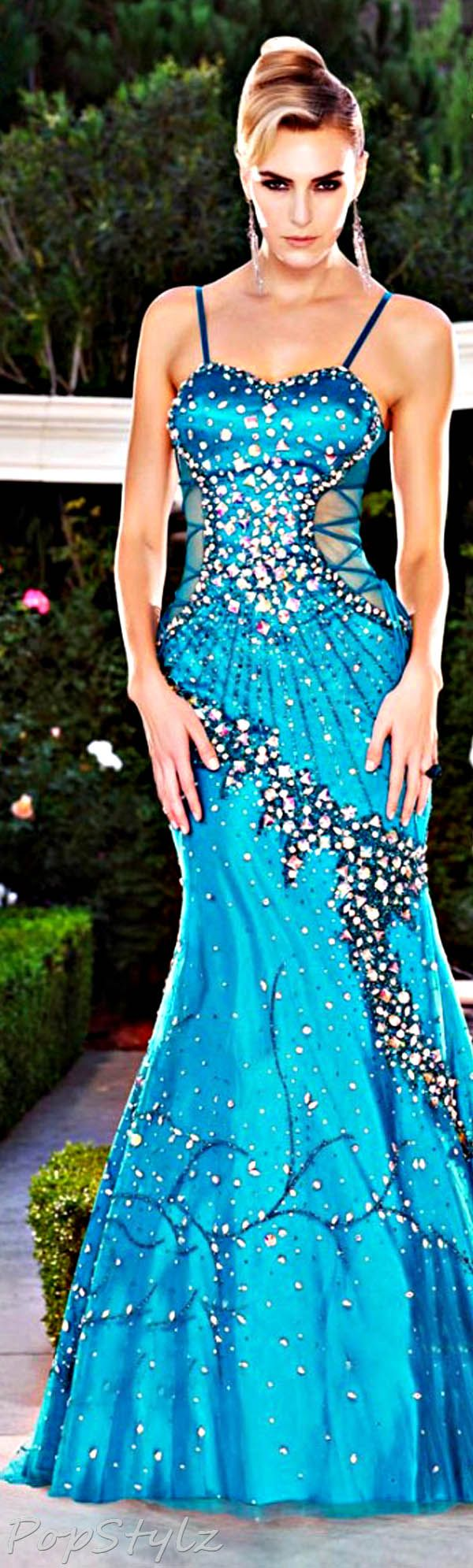 Mnm couture aqua gown clothes for gals pinterest in love