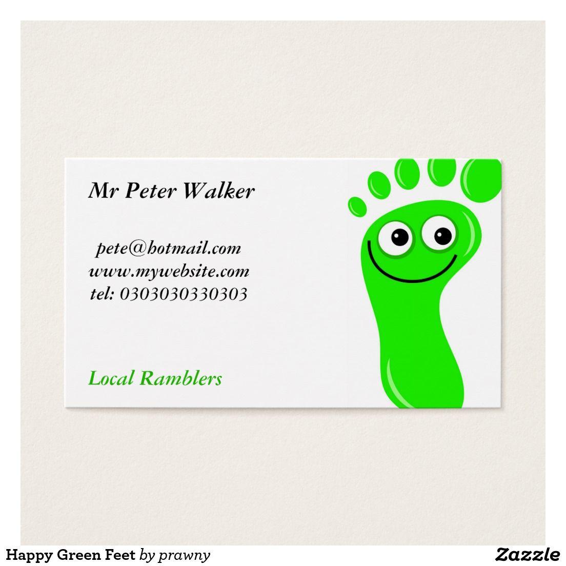 Glückliche Grüne Füße Visitenkarte Zazzle De