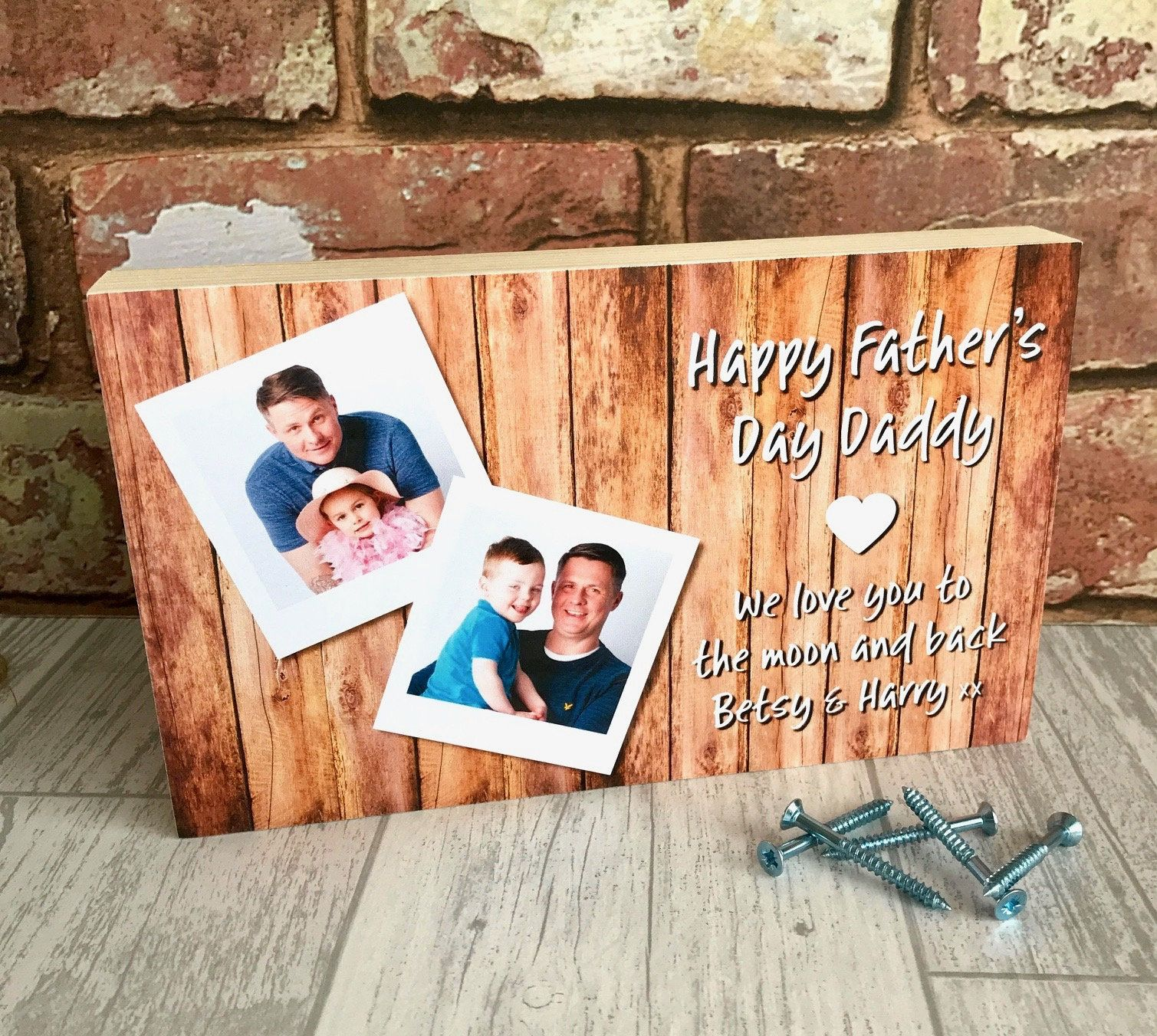 Daddy gifts daddy plaque fathers day gift photo block
