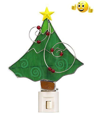 Christmas Tree Stained Glass Night Light - By Ganz Nursery decor