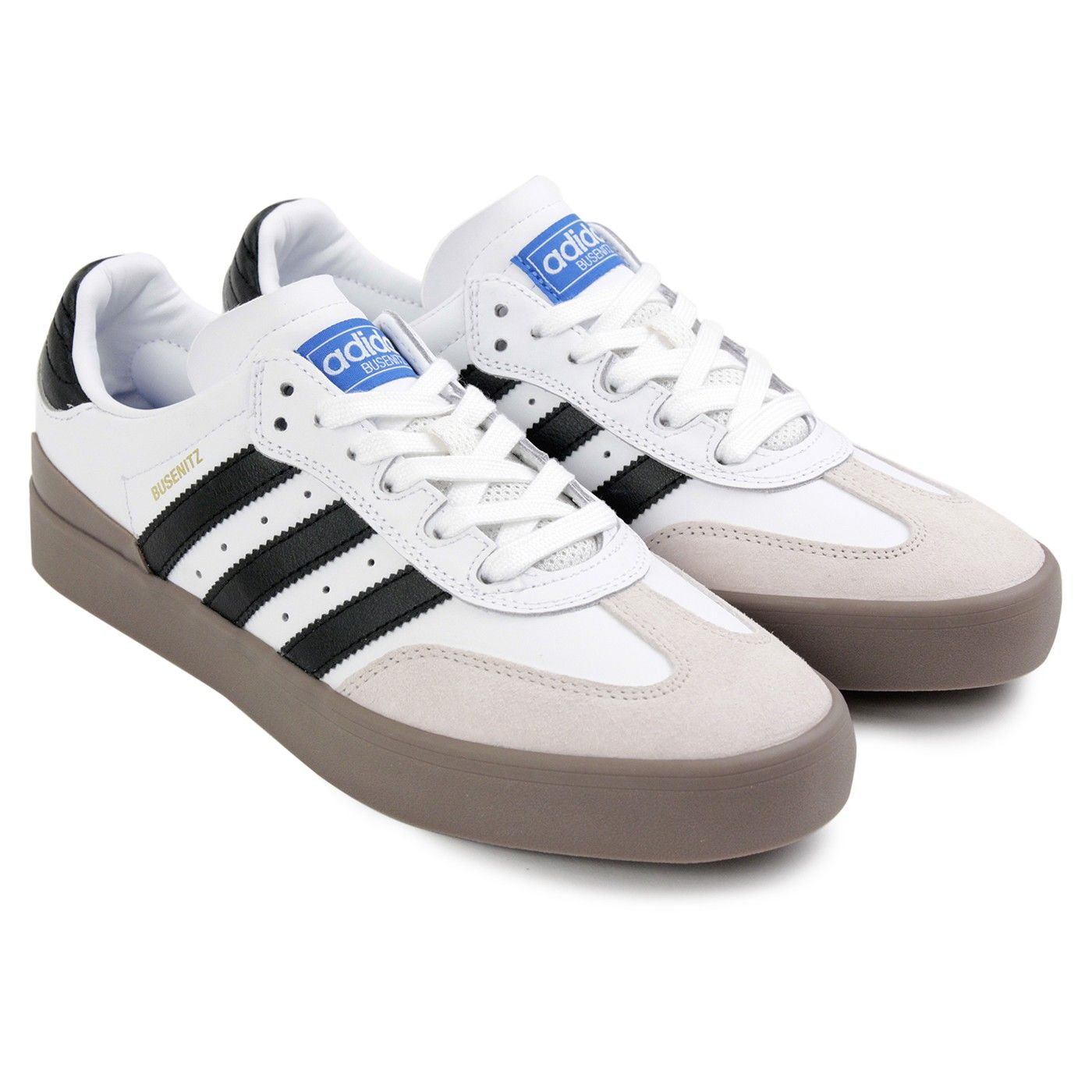 best sneakers 8c4e4 913a0 Busenitz Vulc Samba Shoes in White   Core Black   Bluebird by Adidas