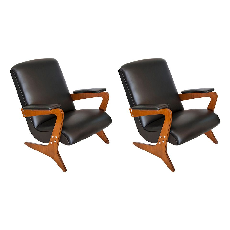 Pair of Armchairs by Jose Zanine Caldas | From a unique