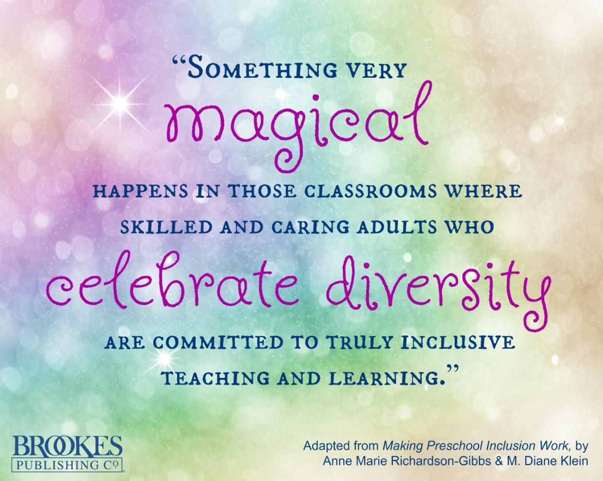 Something magical happens in inclusive classrooms that