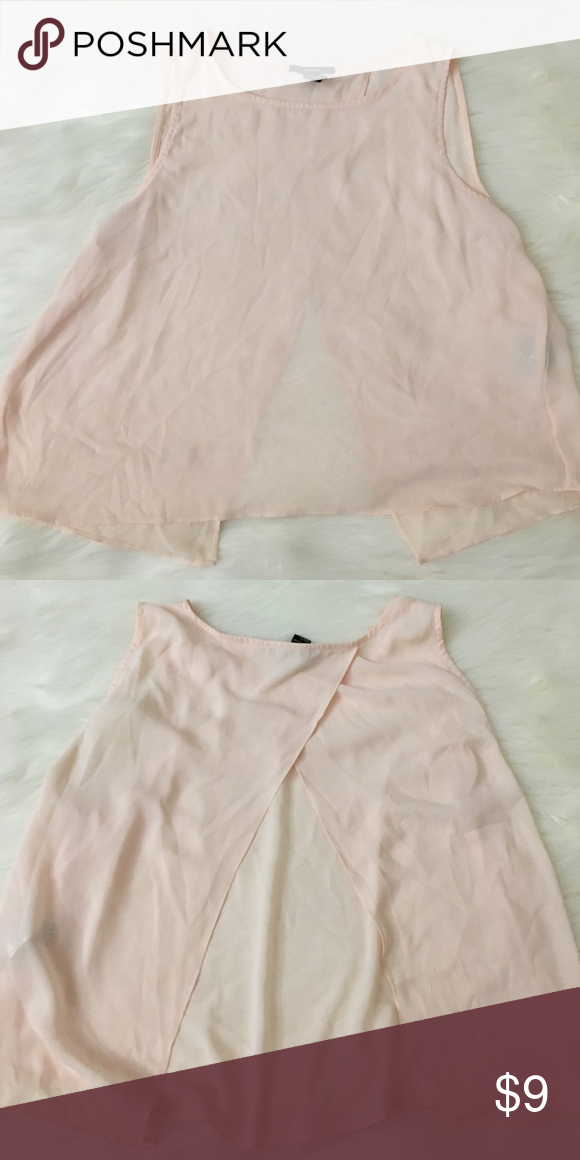 Light pink shirt with back opening detail Light pink tank with back detail Forever 21 Tops Blouses