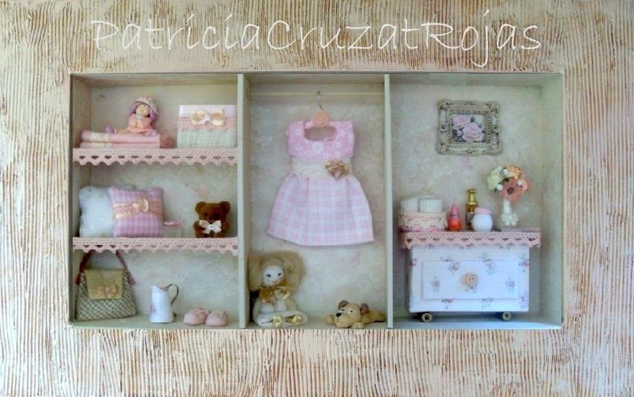 Cuadro ropero estilo shabby chic con miniaturas miniaturas en un cuadro pinterest - Cuadros shabby chic ...