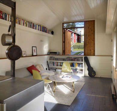 Renovated garage turned into simple studio garages bob for Garage studio apartment ideas