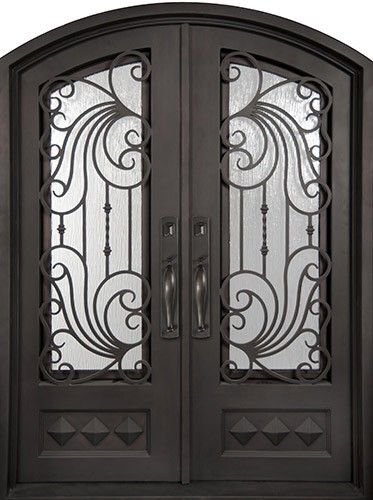 62 Quot X 97 Quot Ocean Wave Prehung Iron Double Door Unit