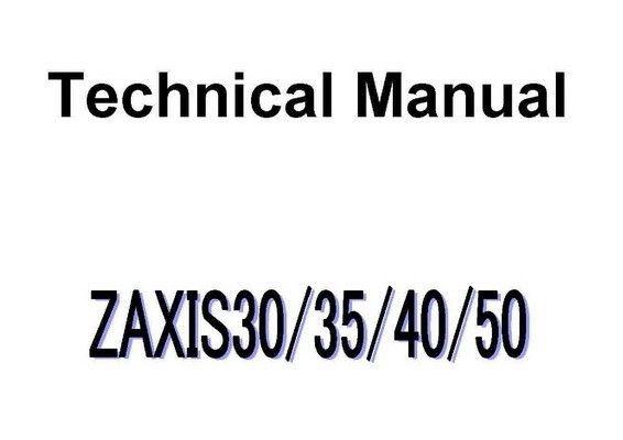 Hitachi ZX30, ZX35, ZX40, ZX50 Mini Excavator Technical