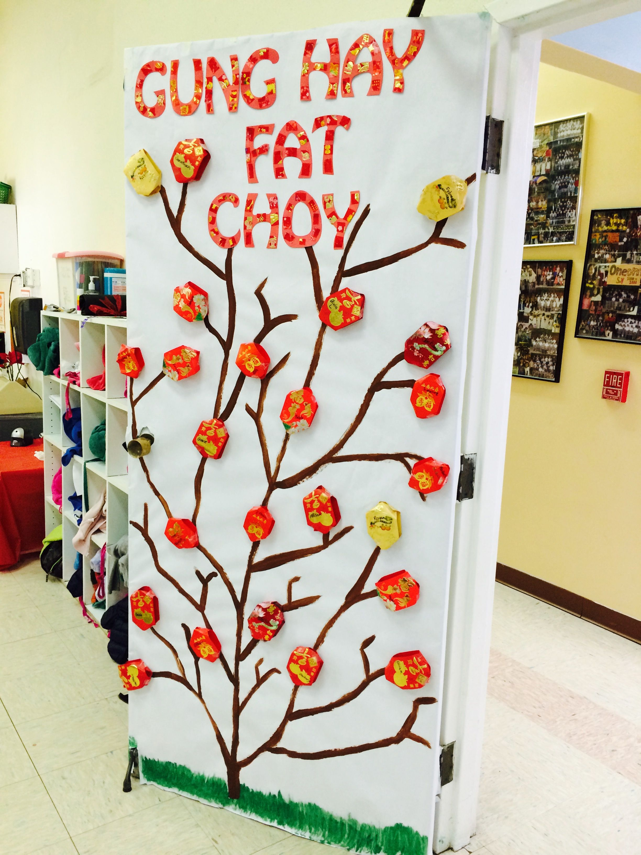 Chinese New Year classroom door Chinese new year