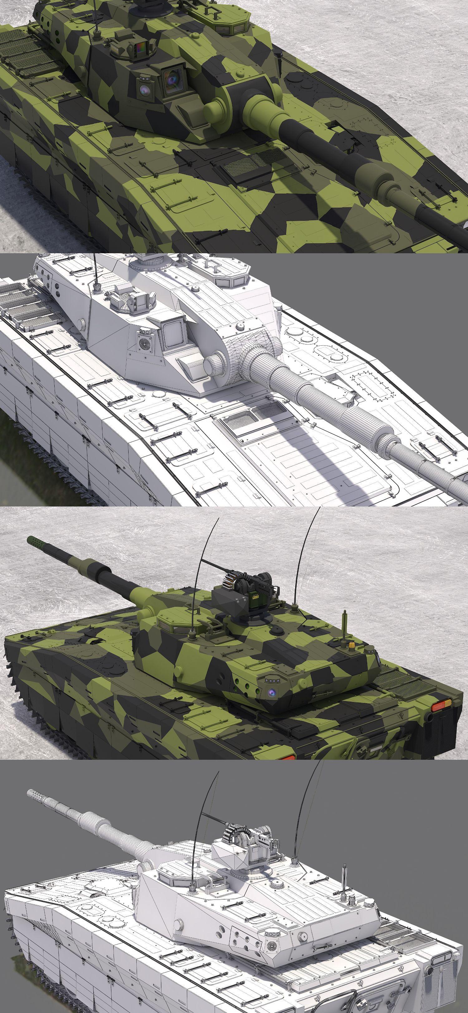 "3D model ""CV90 120-T Light Tank"" #3Dmodel #3Dartist #Tank #Collection #3Dsmax #Vray #Frigatez"