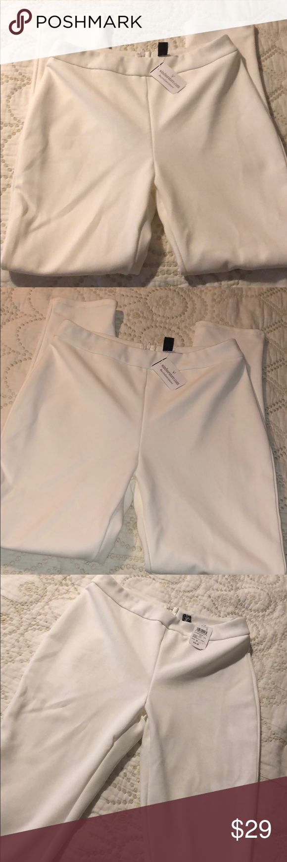 Windsor White Slacks Size M New with tags. Fitted Pants Windsor Pants Skinny #whiteslacks Windsor White Slacks Size M New with tags. Fitted Pants Windsor Pants Skinny #whiteslacks