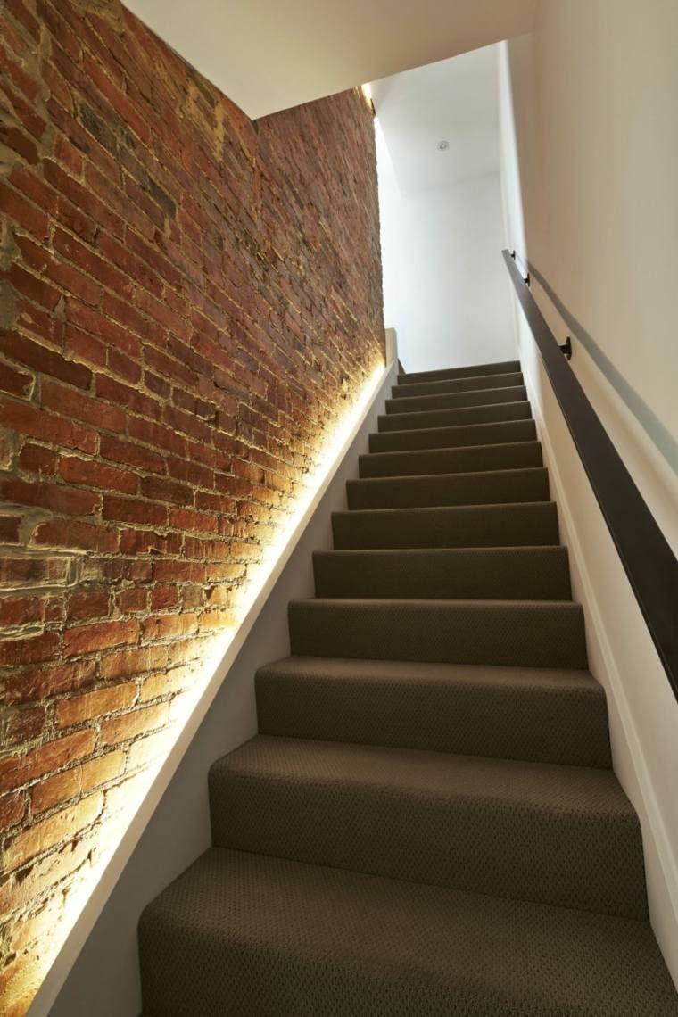 Eclairage Escalier Bande Led Lumineuse Mur De Briques