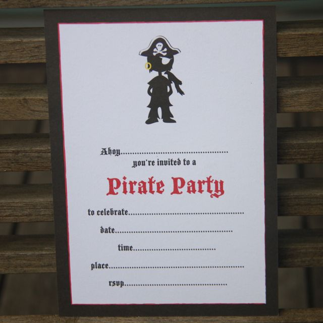 Pirate invitations - $12.95 for a pack of 10