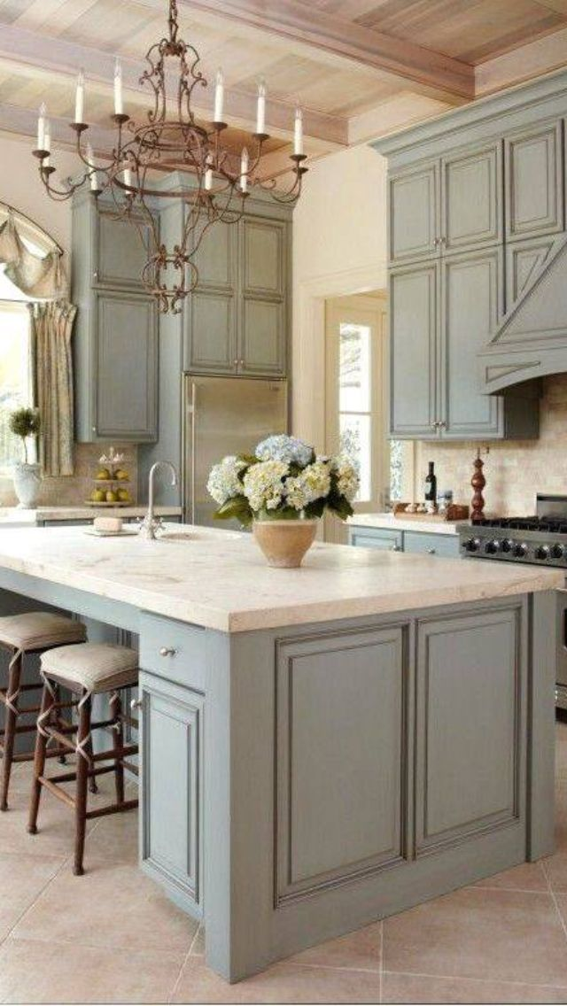 Best I Love This Calm Kitchen Country Kitchen Designs 400 x 300