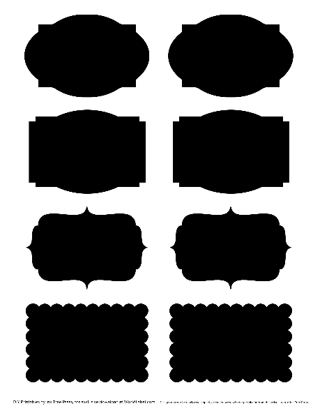 Printable Faux Chalkboard Labels Chalk Labels Printable Labels Labels