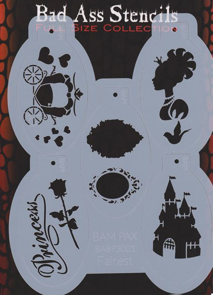 craft /& face painting stencil cookie 60mm balloons design cake