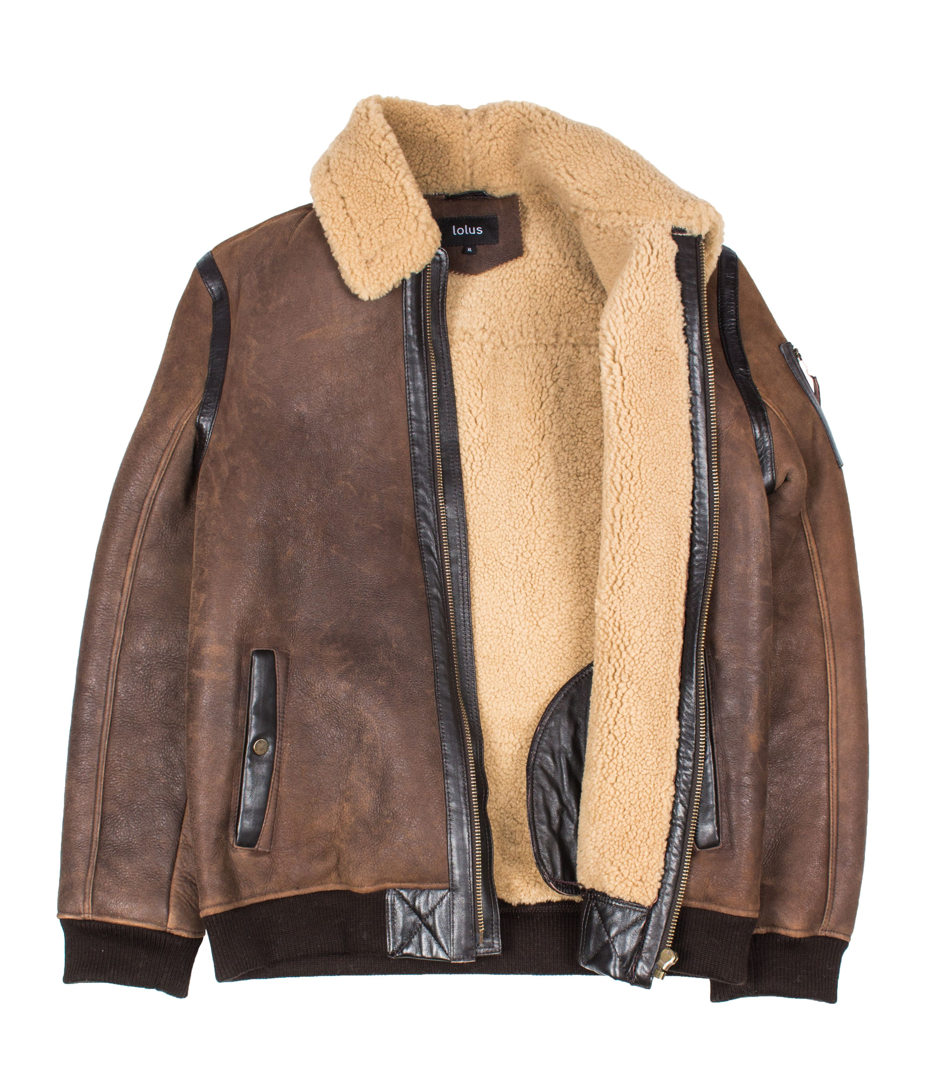 Lolus Hanx Lammfelljacke Shearling Jacket | Braune