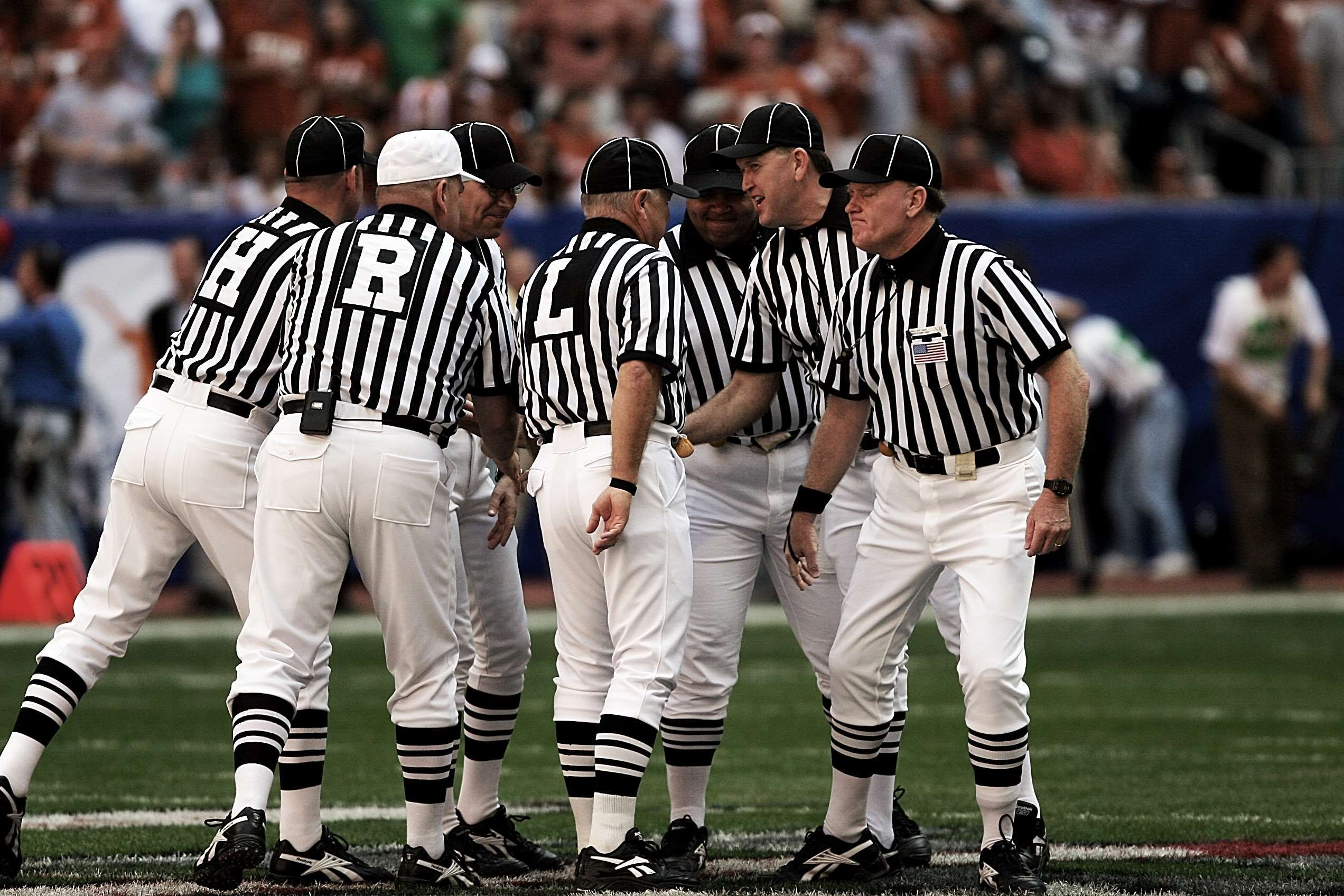 conference game group men people referees sports