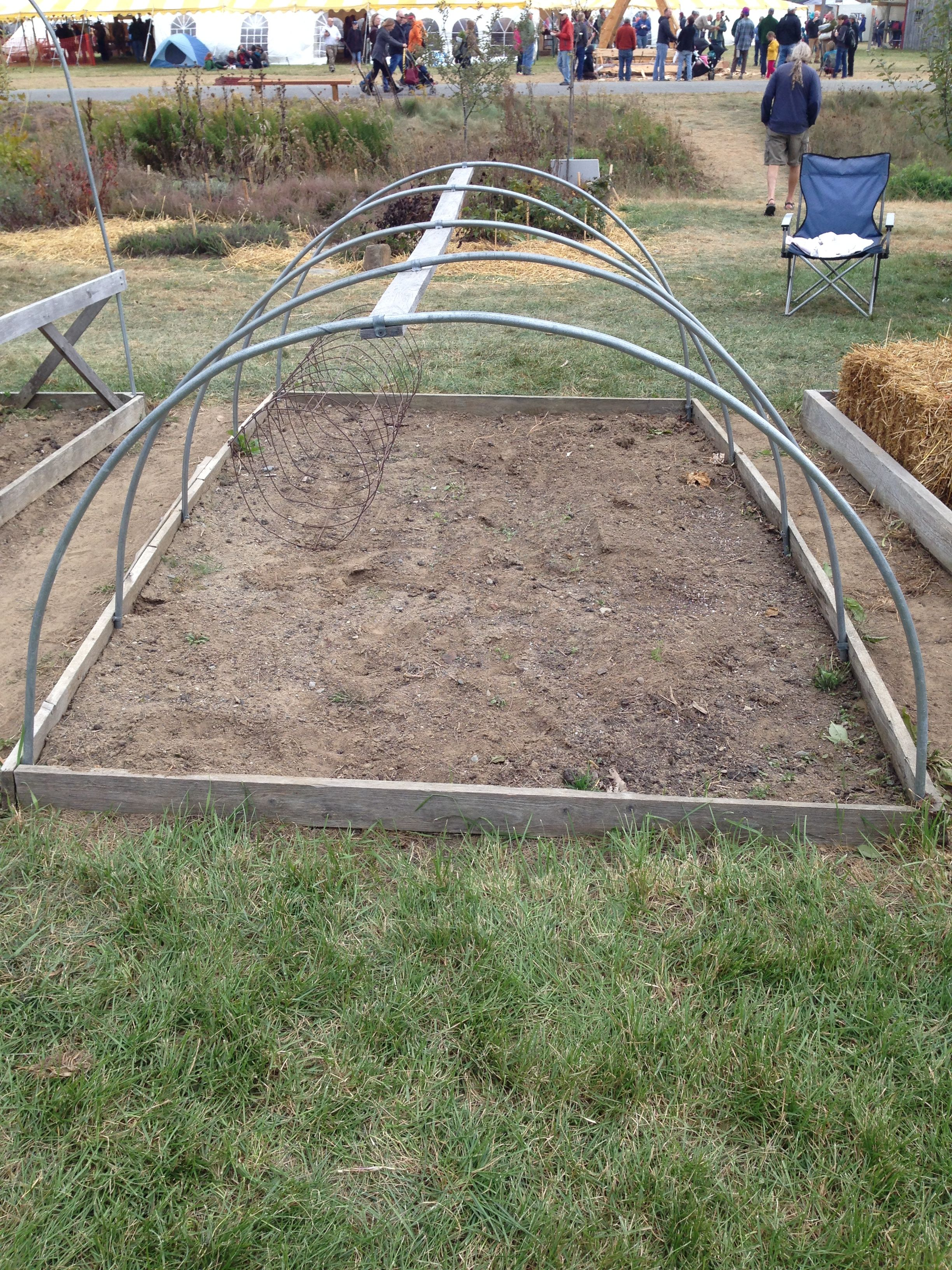 A small raised bed/hoop house at the Common Ground Fair in Unity, ME ...