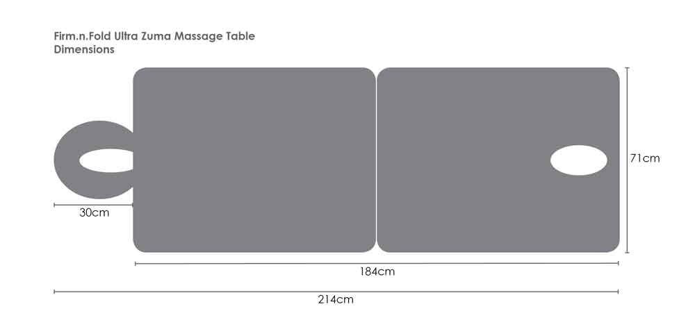 A Sample Massage Table S Dimensions 2d Spa Accessories