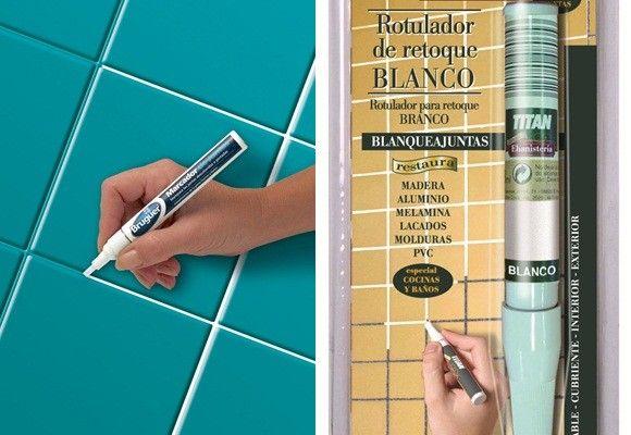 C mo pintar los azulejos del ba o bricolaje ba o ba os azulejos y pintar - Pintura baldosas bano ...