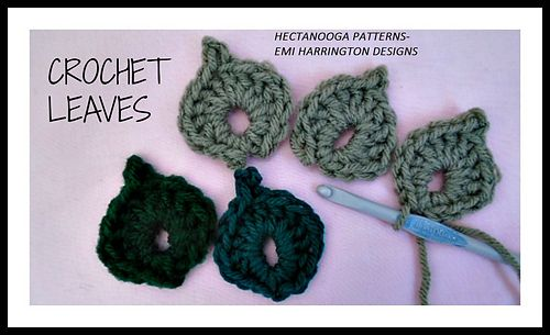 Free Video Tutorial How To Crochet Leaves By Emi Harrington