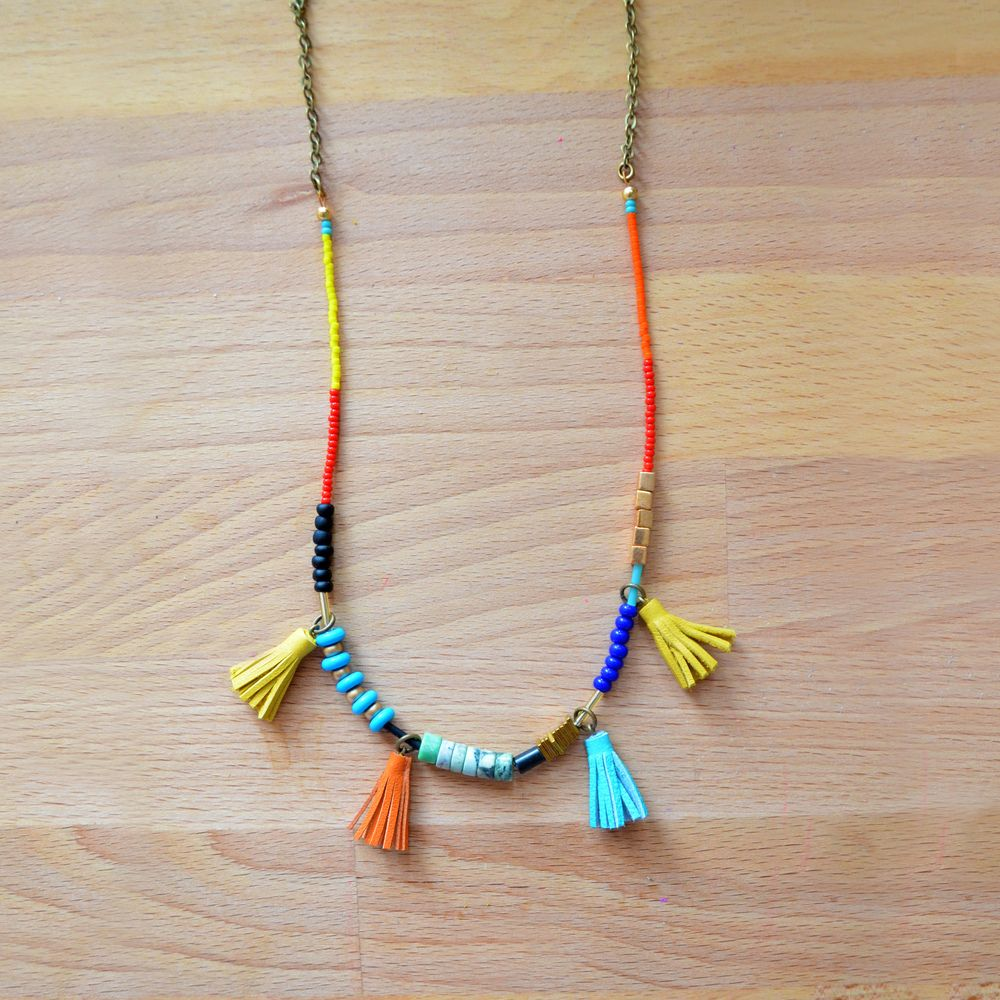 Image result for long bead necklaces