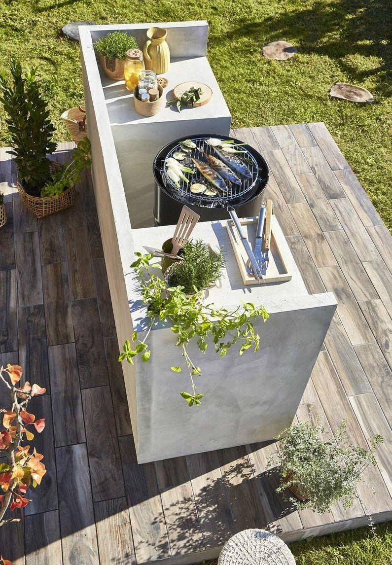 Mini Cuisine D Ete Pour Maxi Diners Leroy Merlin Barbecue Jardin Cuisine Exterieur Decoration Jardin