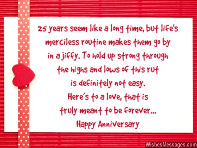 25th Anniversary Wishes Silver Jubilee Wedding Anniversary Quotes Wedding Anniversary Message Anniversary Quotes For Parents Anniversary Wishes Quotes