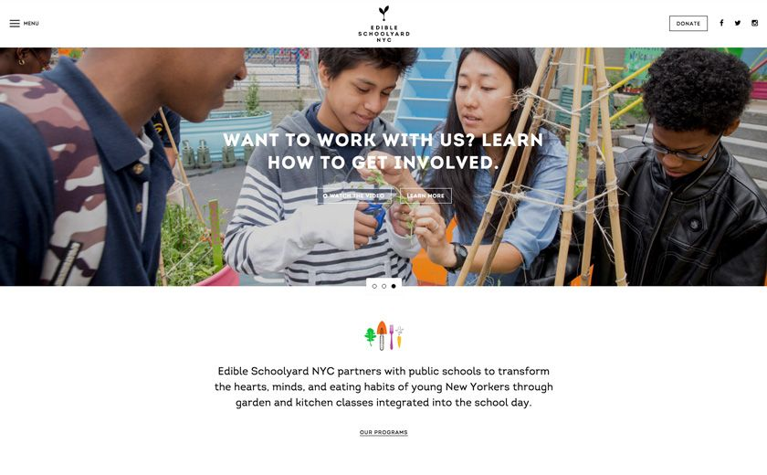 New Design Edible Schoolyard Nyc School Yard Web Design Inspiration Web Design