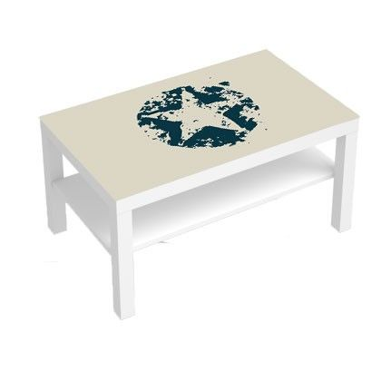 Stickers 90x55Etoiles Table Grungedecosticker Pour Basse Lack vYbf6g7y