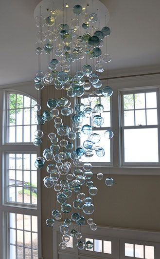Bubbles chandelier lighting whimsical decor idearz bubbles chandelier lighting whimsical mozeypictures Image collections