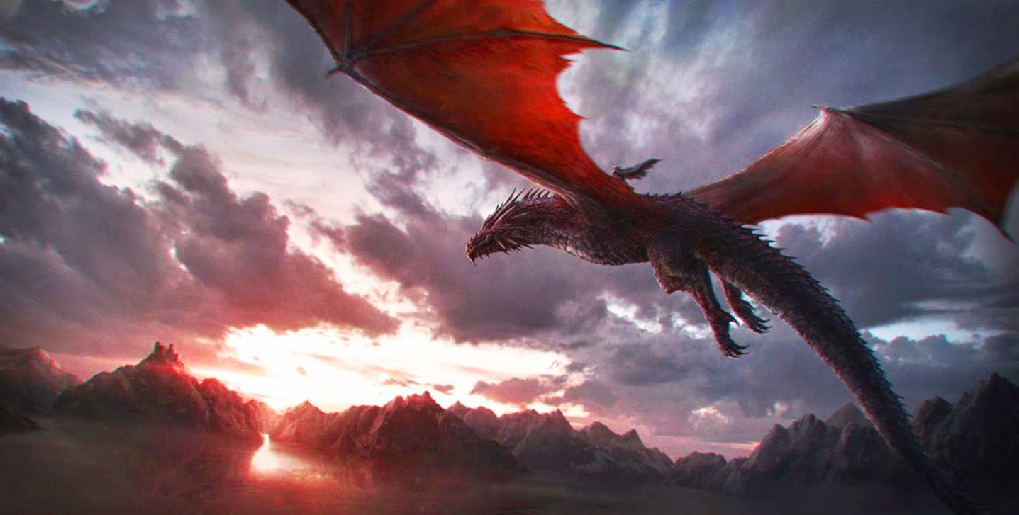 дракон в небе фото