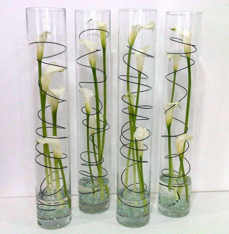 Modern calla lily cylinder vase tischdeko deko und blumen for Tischdeko bestellen
