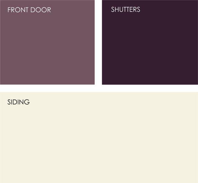 Exterior House Colors. Valspar: Raspberry Wine 1009 9, Rare Wine 1011