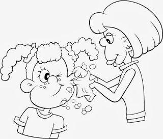 desenhos de higiene para colorir pintar imprimir atividades