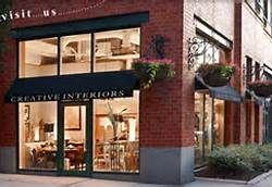 storefront design ideas simple awning hanging baskets