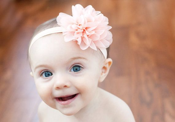 280badbdb060 Peach baby headband infant headband newborn by buttercupsbows ...