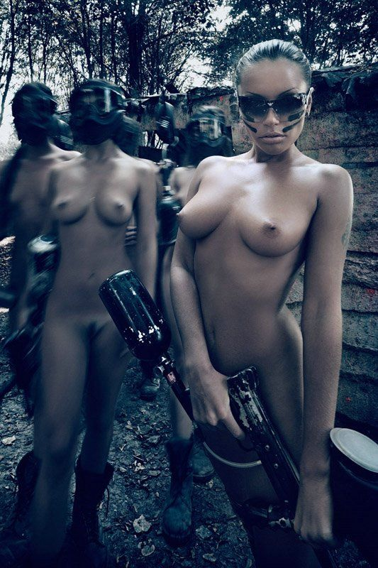Sexy nude paintball #6