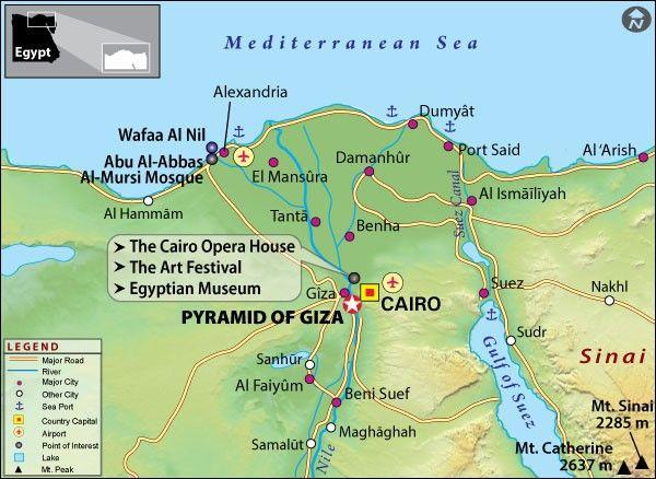 Pyramids Of Giza Travel Information History Location Entrance - Giza map