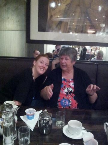 Alexandra with our very first team member Linda