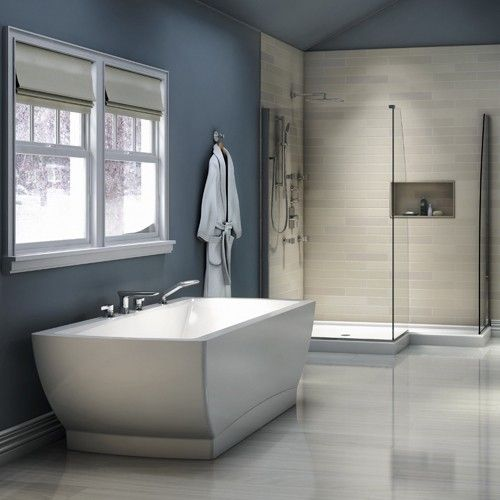 rectangular freestanding soaking tub. Beautiful  Ergonomic And Comfortable This Rectangular Bathtub Features Harmonious Angles Curves With A Large Bathing Well Built In Armrests For Believe Freestanding Soaking Tub Bathtubs Bathtub Ideas